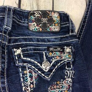 Miss Me Jeans girls 12 skinny KE82475 EUC Jean